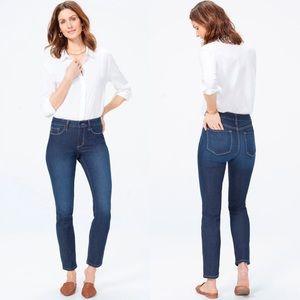 NYDJ Alina Skinny Dark Denim Jeans